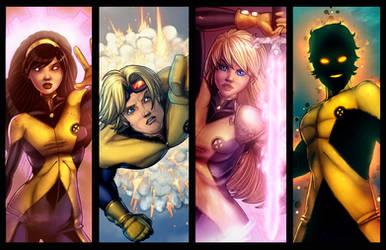 New Mutants Lineup 1 by JamieFayX