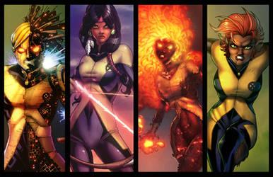 New Mutants Lineup 2 by JamieFayX