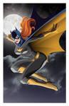 Batgirl In Flight colored