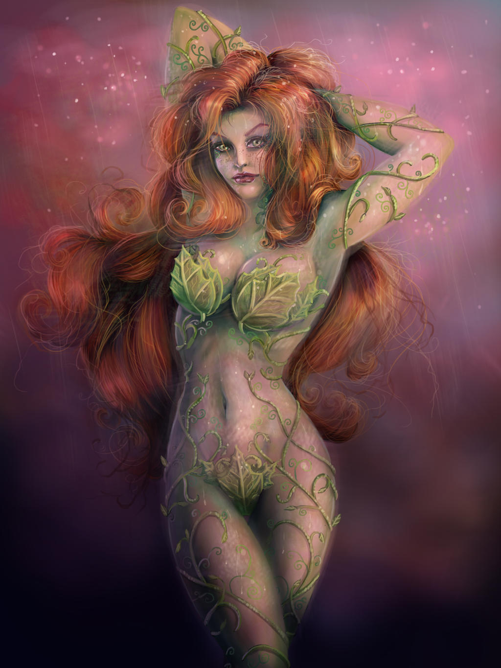 Poison Ivy - Painted by JamieFayX