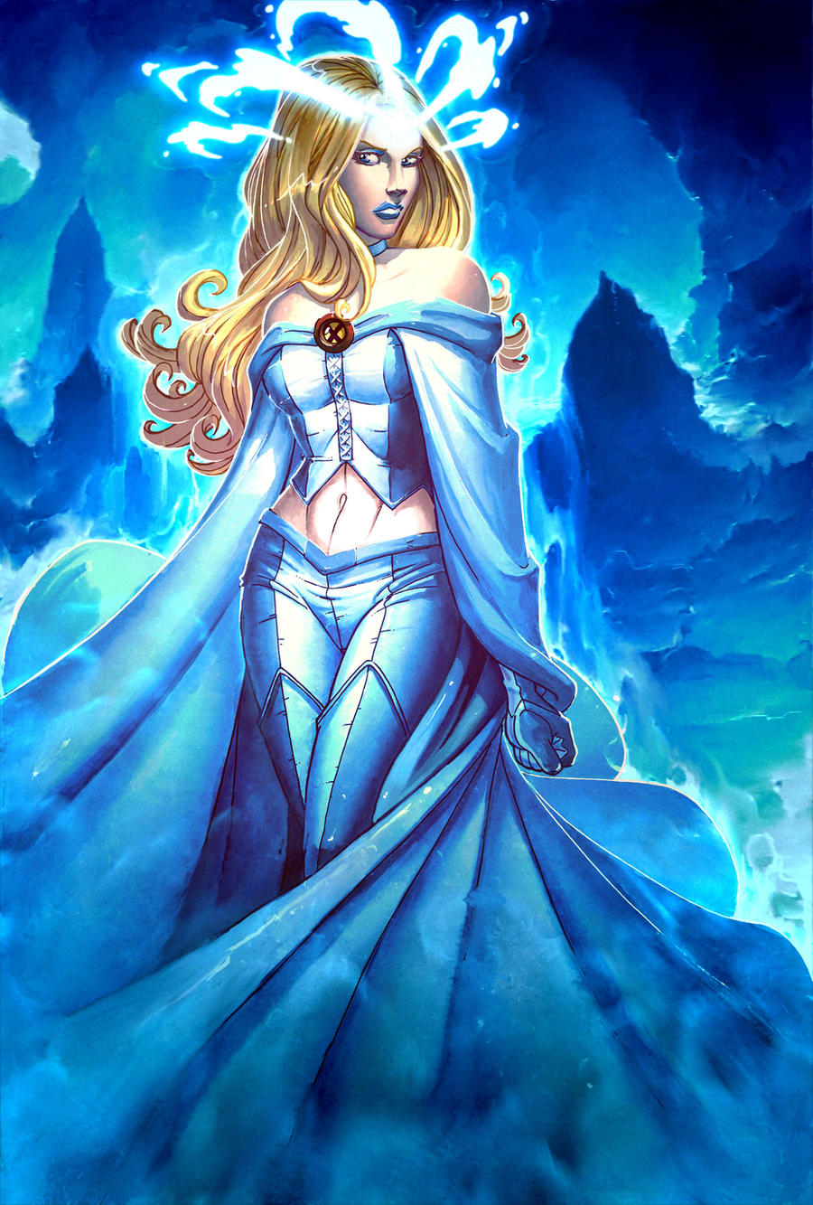 Emma Frost-White Queen by JamieFayX