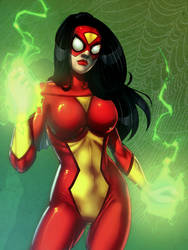 Spider-Woman Colored by JamieFayX