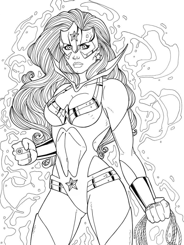 Wonder Woman Star Sapphire by JamieFayX
