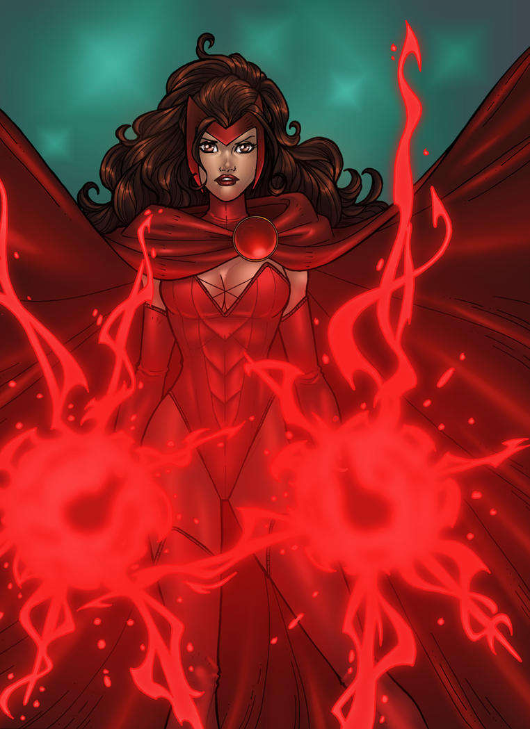 Scarlet Witch - Colored by JamieFayX