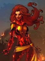 Dark Phoenix - Colored by JamieFayX