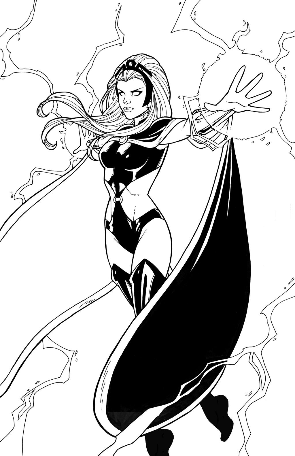 Free coloring pages x men - Storm 2011 By Jamiefayx Storm 2011 By Jamiefayx