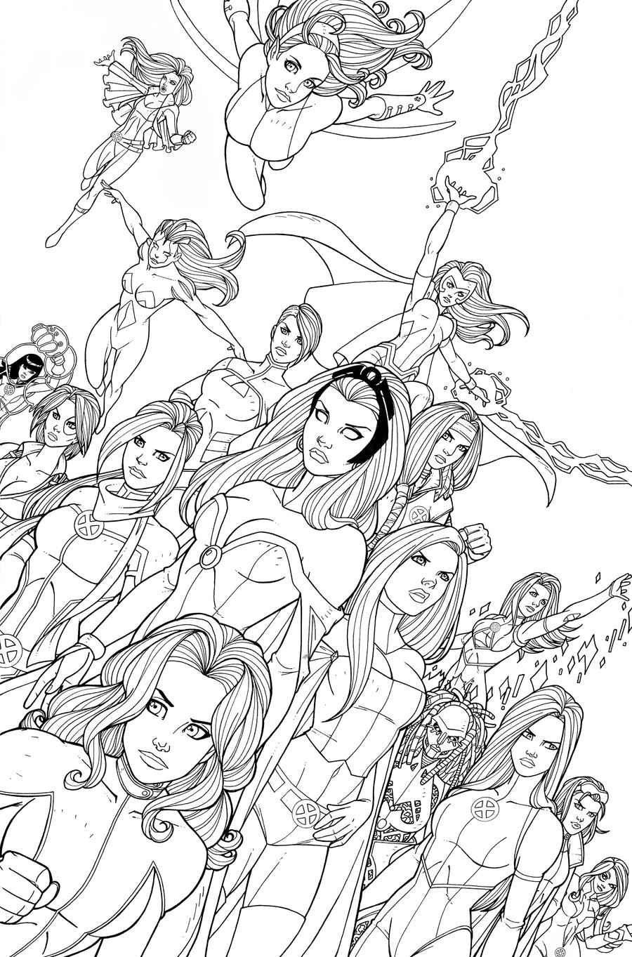 X-WOMEN - Line Art by JamieFayX