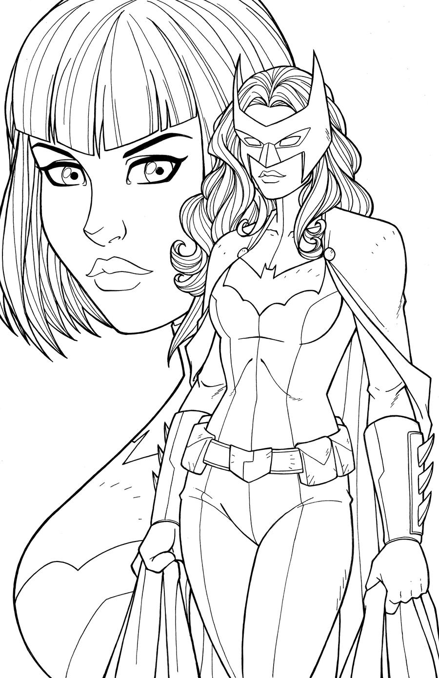 batwoman coloring pages - batwoman by jamiefayx on deviantart