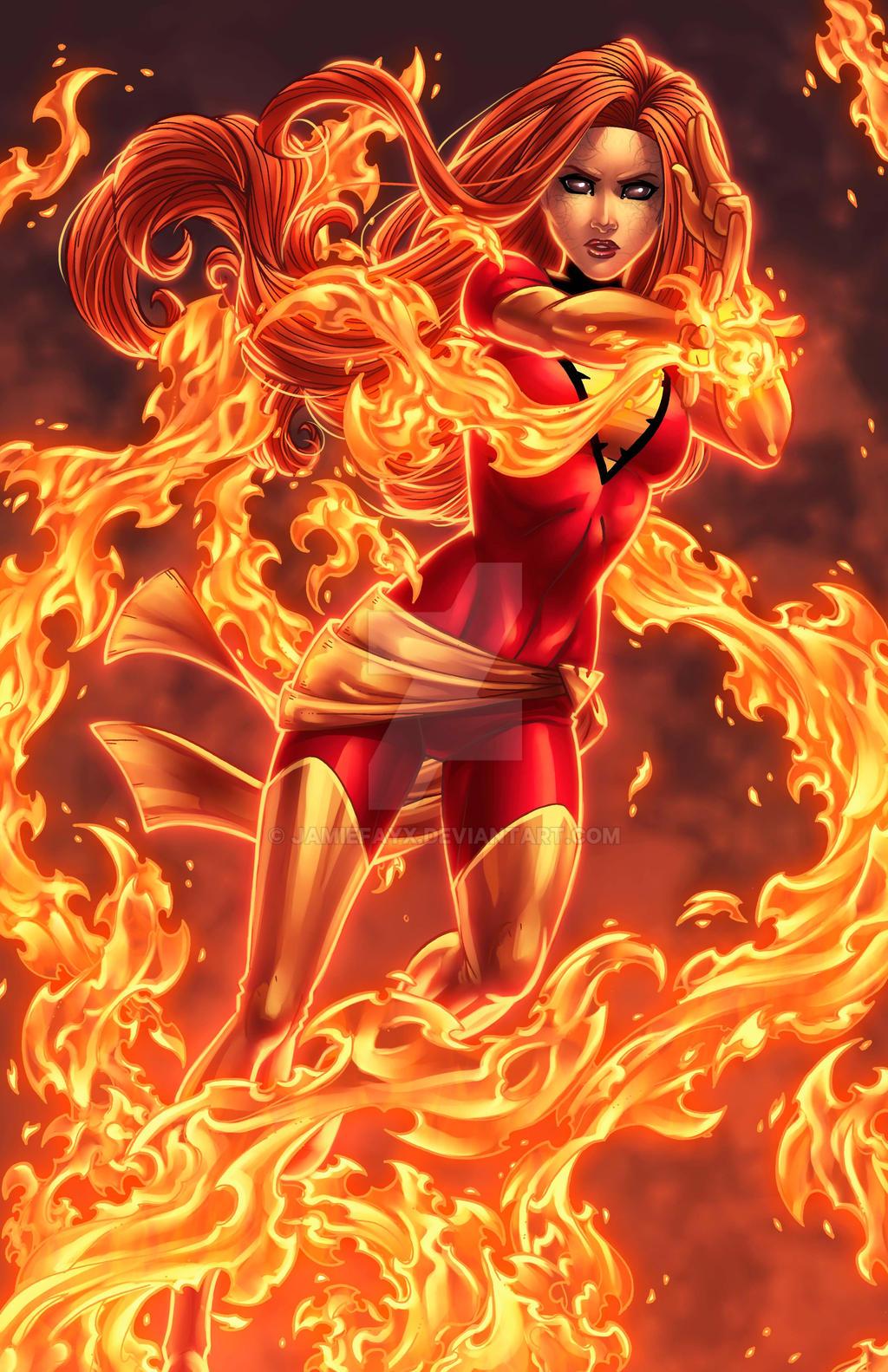 Dark phoenix rising by jamiefayx on deviantart - Jean grey phoenix wallpaper ...