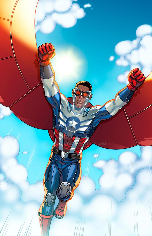 Capt america falcon by jamiefayx on deviantart - Faucon avengers ...