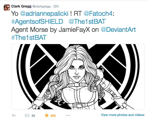 Phil Coulson Tweets My Art!!!! by JamieFayX