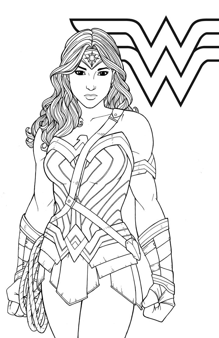 Wonder woman by jamiefayx on deviantart for Coloring pages wonder woman