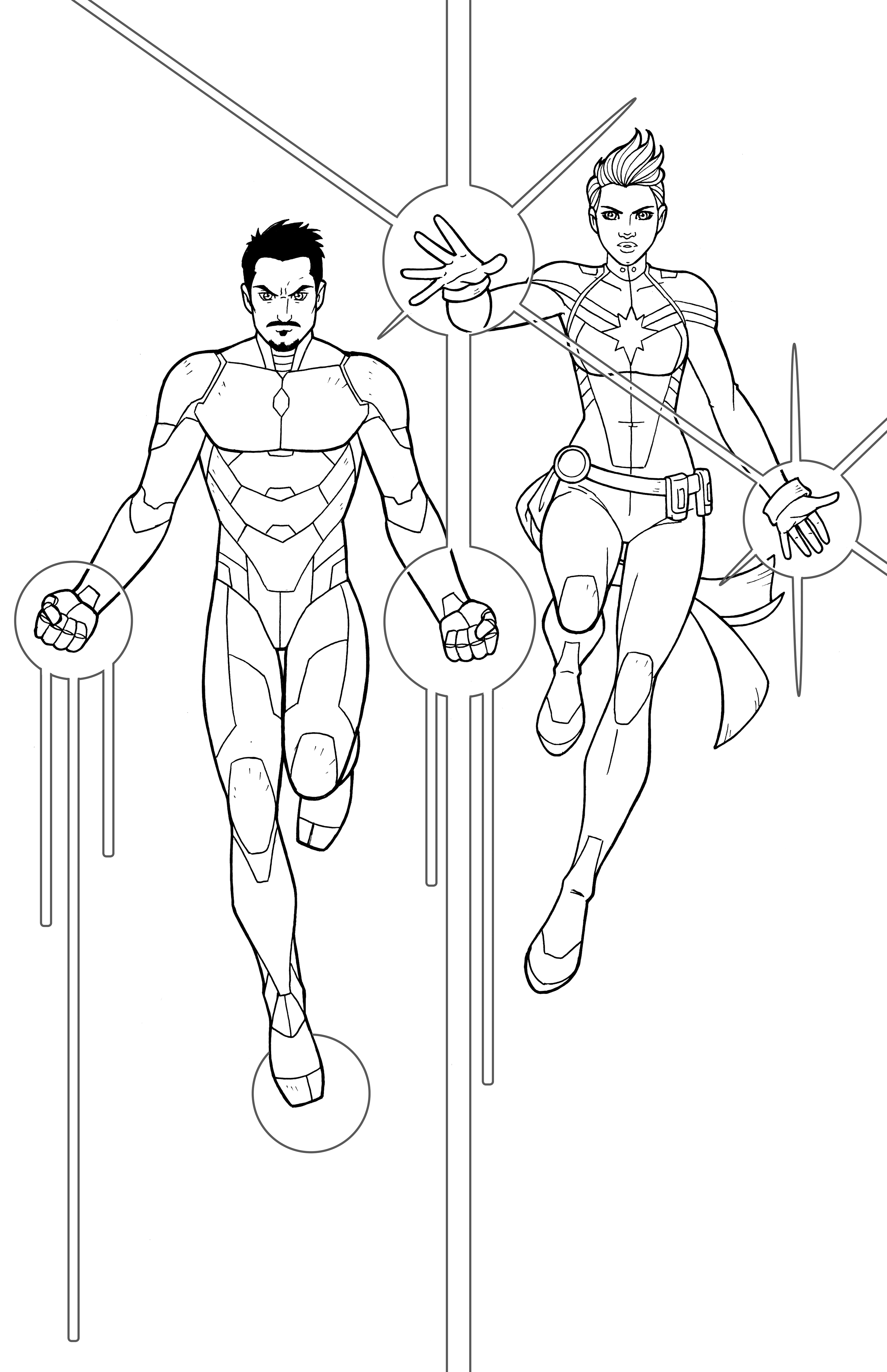 captain marvel coloring pages - photo#25