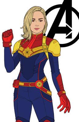 Captain Marvel - Color Scheme