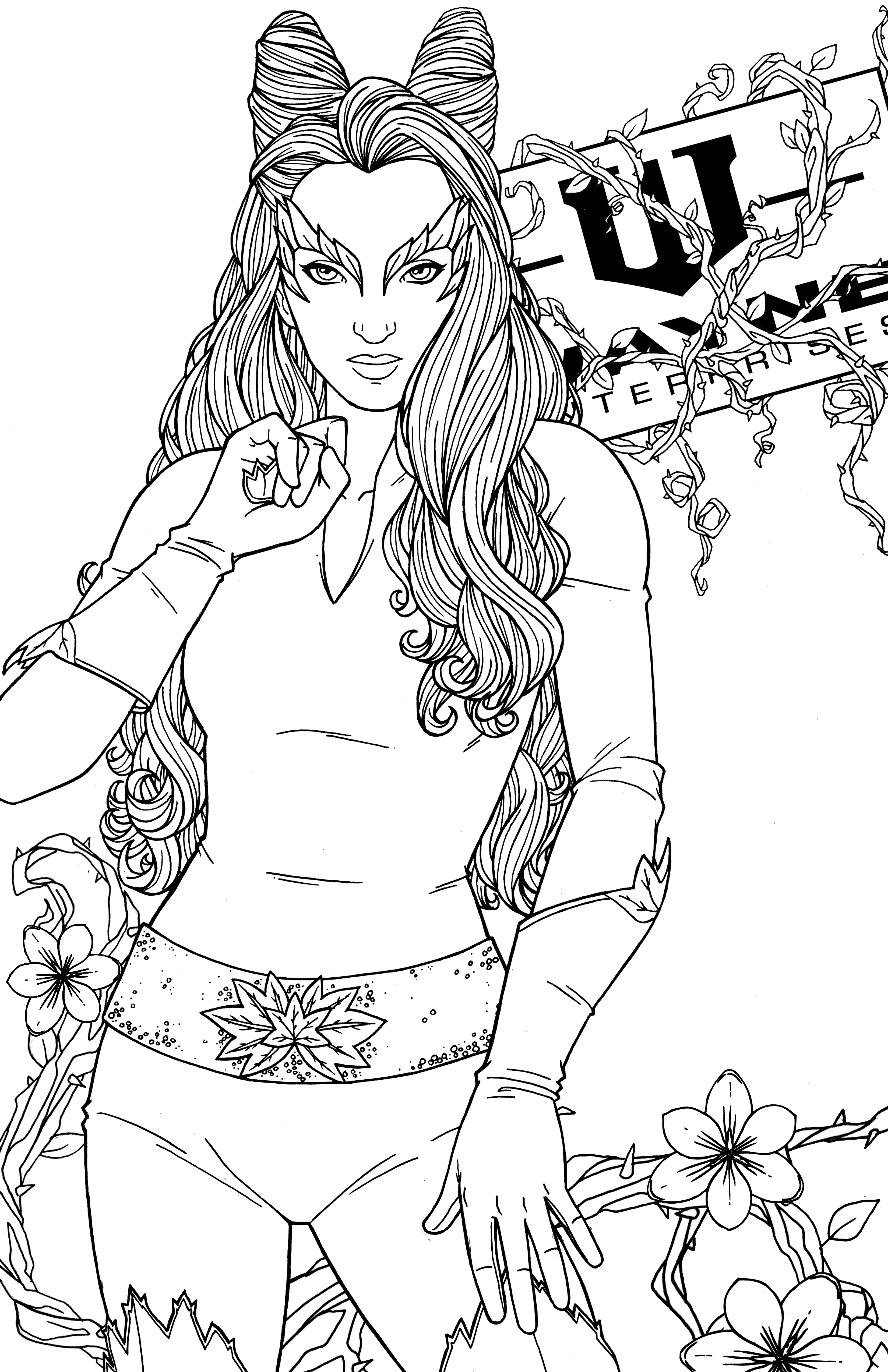 ivy coloring pages - photo#30