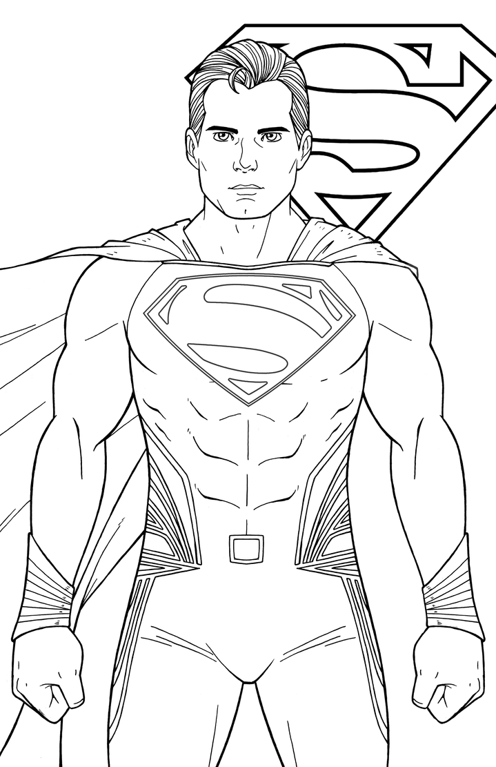 Superman henry cavill by jamiefayx on deviantart for Man of steel coloring pages
