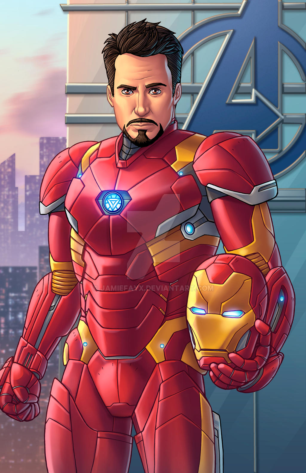 how to draw civil war iron man