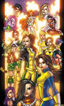 x-girls colored by bob pedroza