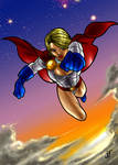 PowerGirl colored