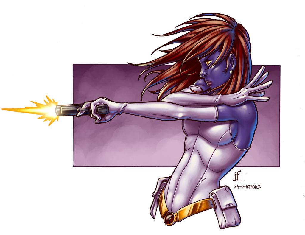 mystique colored by JamieFayX