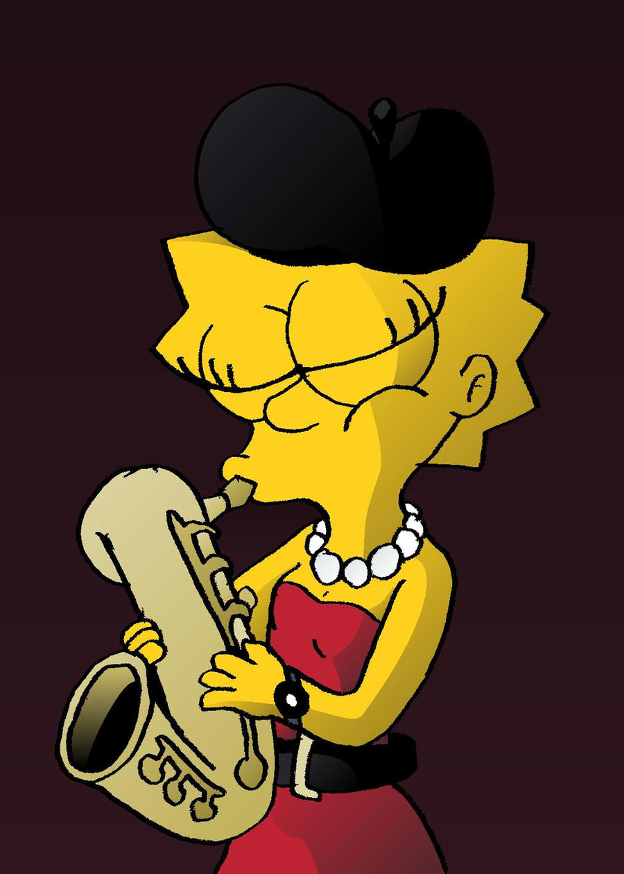 Lisa and her saxophone by toongrowner