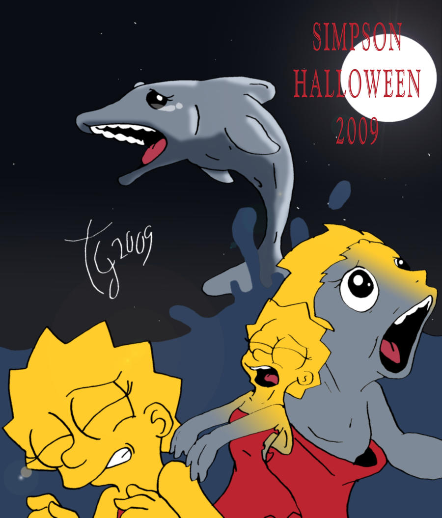Simpsons Halloween 2009 by toongrowner