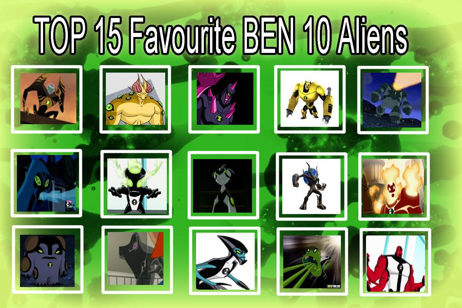 my top 15 favourite Ben 10 Aliens by toongrowner on DeviantArt