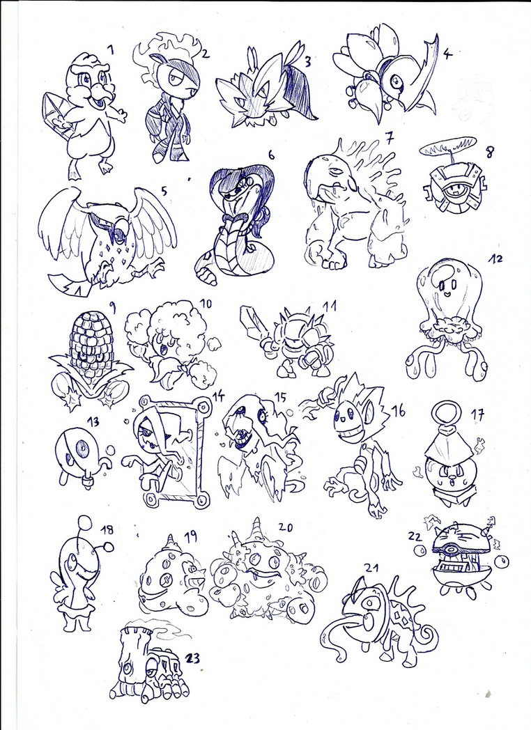 Fakemon sketch19102014 by toongrowner