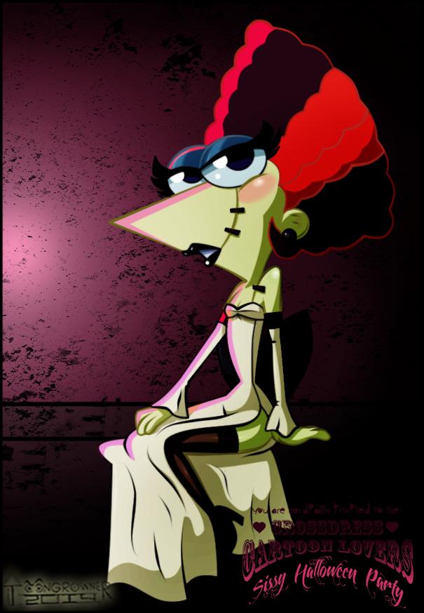 Halloween Crossdress Phineas by toongrowner