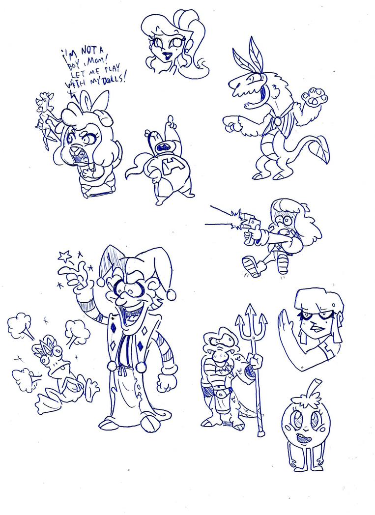 Random original character sketch stuff by toongrowner