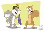 Slappy Squirrel meets Sandy Cheek