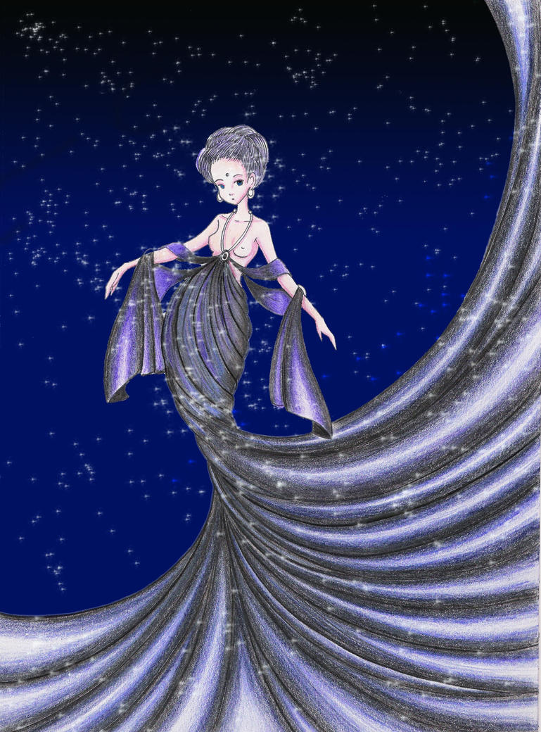 The Goddess Nyx by OrangeJolius
