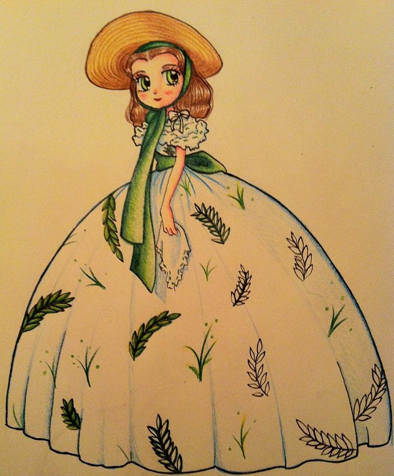 Work in progress: Scarlett o'hara doodle by OrangeJolius