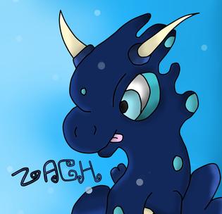 Zach the aquafairy dragon by HyperactiveChaosgirl