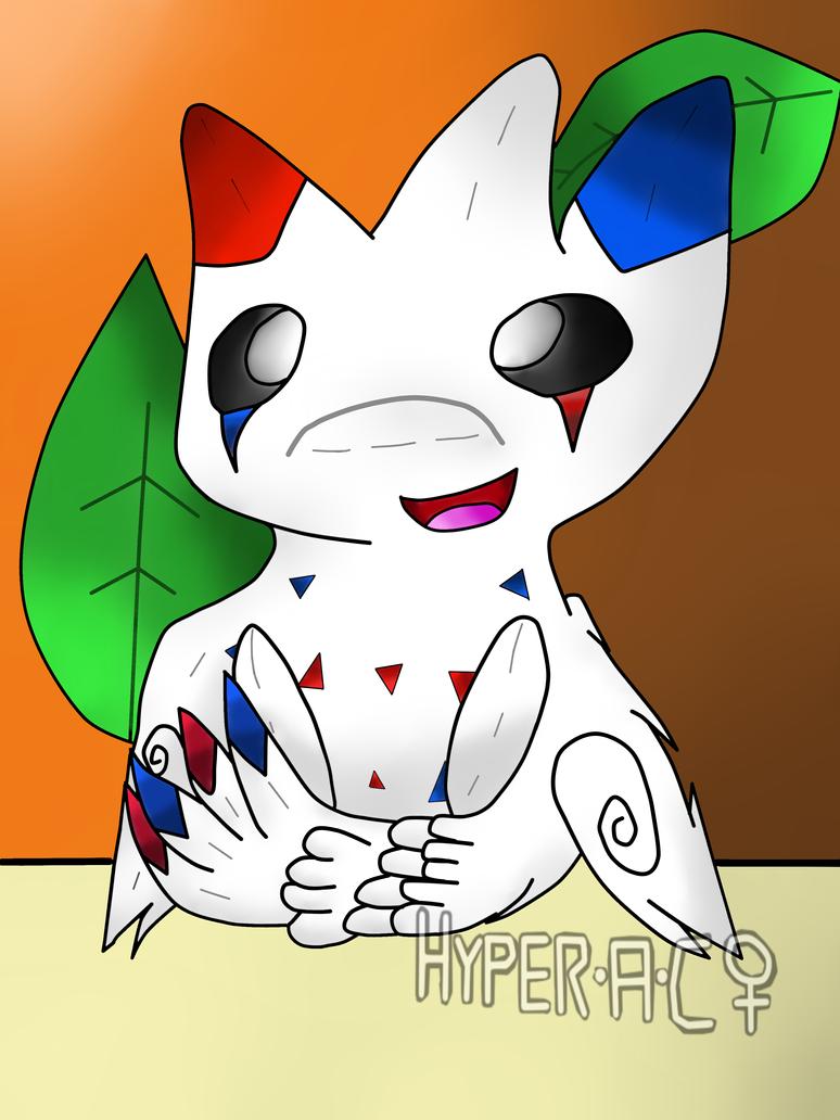 Arctus the chibi cartoon Togekiss plush by HyperactiveChaosgirl