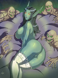 Undead relaxes(nude version) by Tesan-Andrey