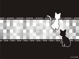 Luna and Artemis Wallpaper by Willianac