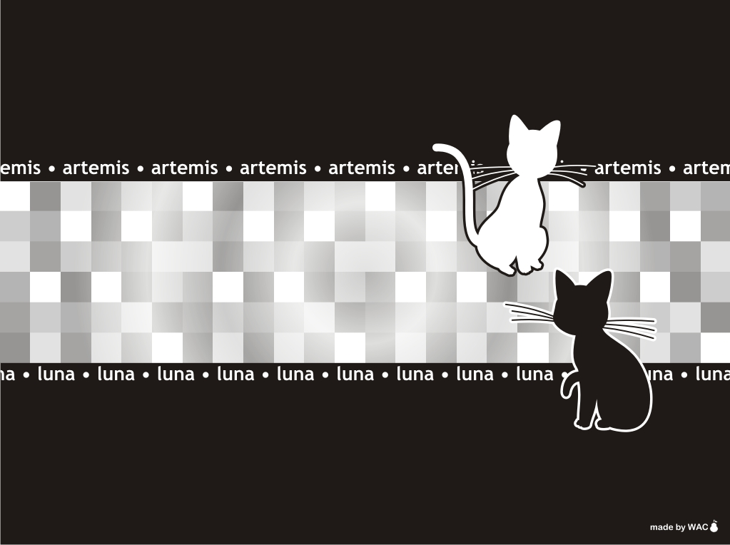 Luna and Artemis Wallpaper by Willianac