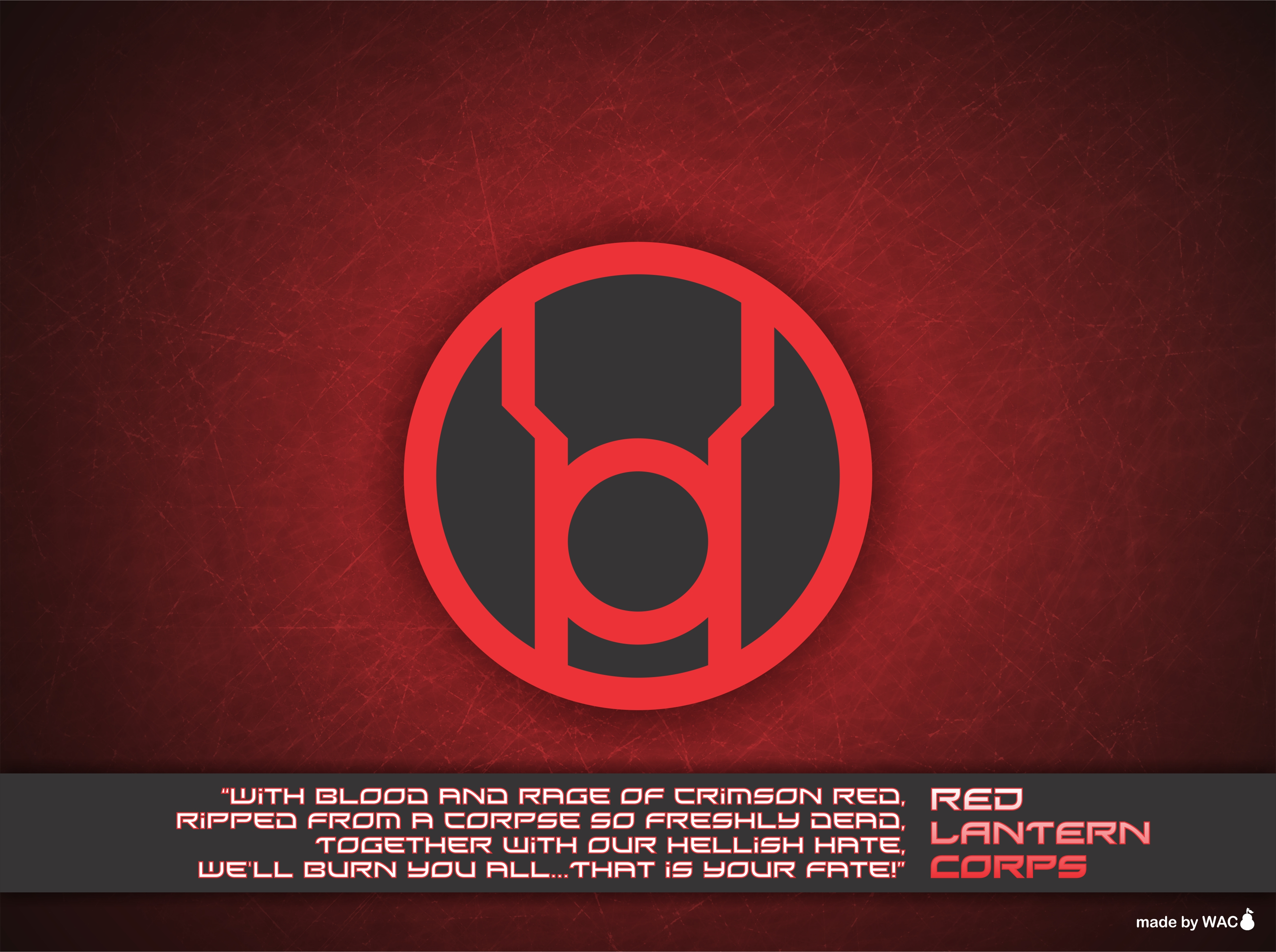 Red Lantern Corps Wallpaper by Willianac on DeviantArt Red Lantern Ring Oath