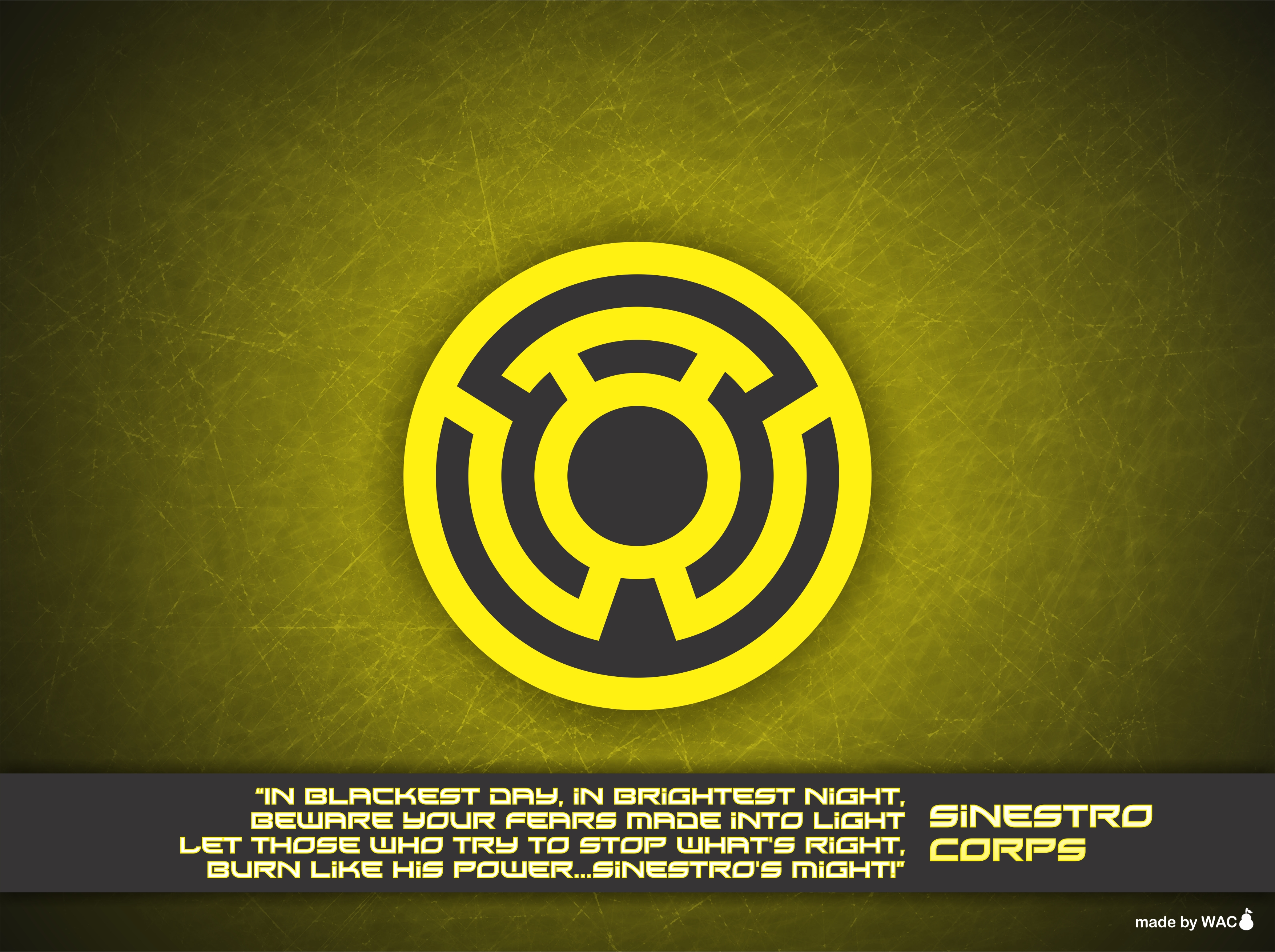 Sinestro Corps Wallpaper by Willianac on DeviantArt
