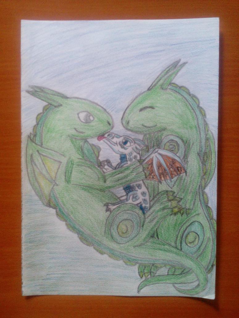 Dragonhug for MiniMythicalMonsters by Wulfsista