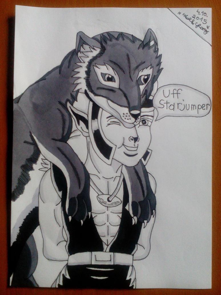 Wolf Glomp by Wulfsista