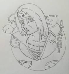 Uchiha Itachi(SR-Sketch) by Wulfsista
