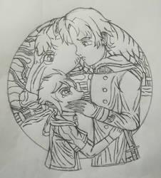 Begging(Sketch) by Wulfsista