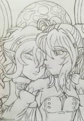 Siblings(Sketch)  by Wulfsista