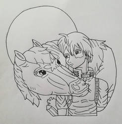 Everyone can be a Hero!(LineArt)
