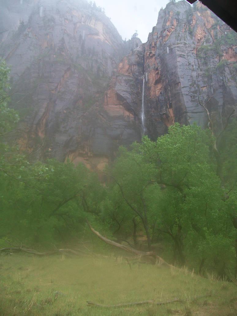 Hidden Waterfall by Midorii-kiri