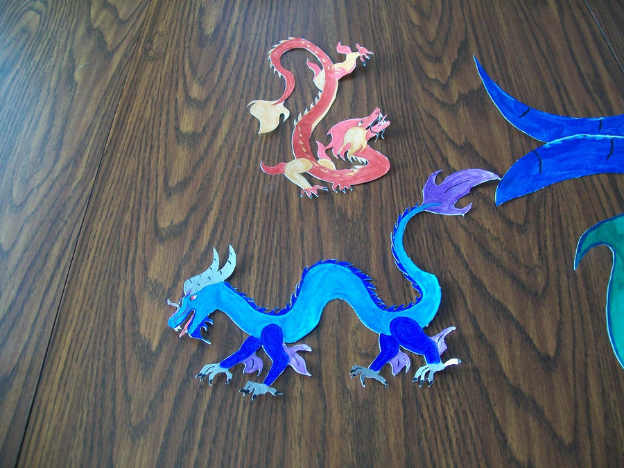 Asian Dragons by Midorii-kiri