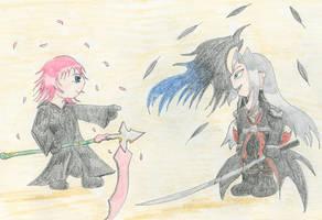Feathers vs Petals by Midorii-kiri