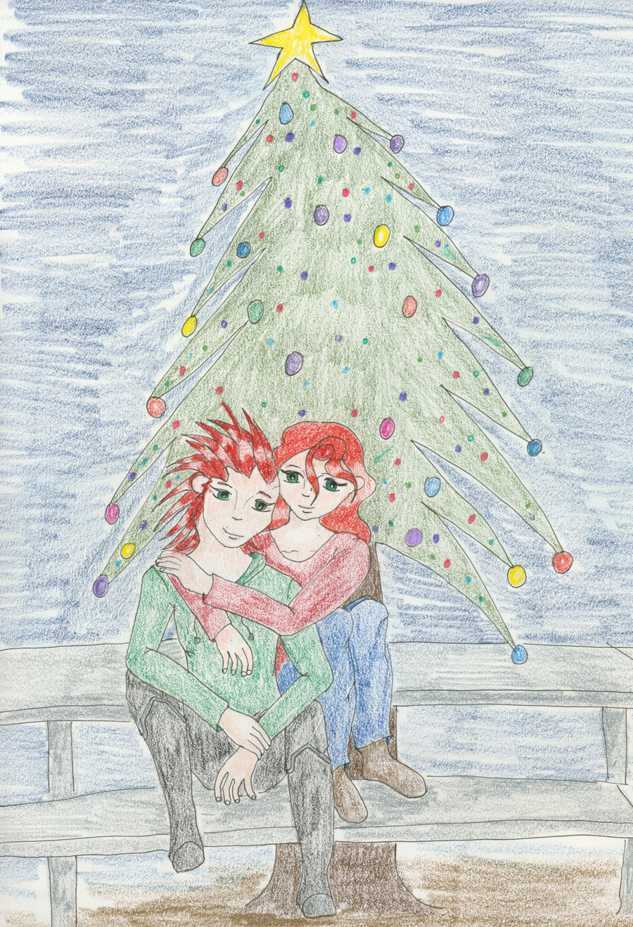 Christmas Cuddles by Midorii-kiri